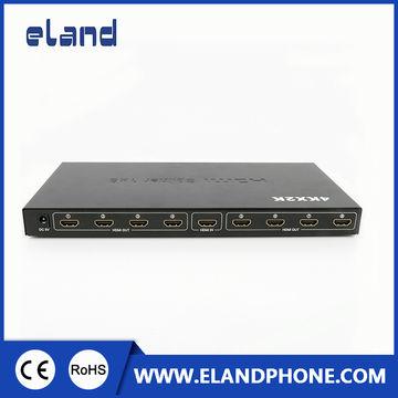 China 1 x 8 Splitter, Supports 3-D 4K*2K