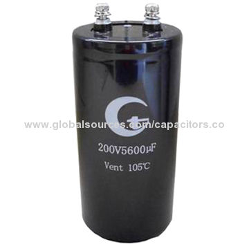 China 4700μF/400V Aluminum Electrolytic Capacitors, Screw Terminals/Large Can/Large Ripple Current