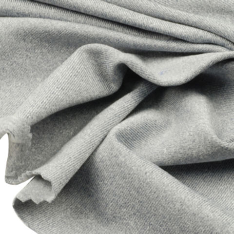 Taiwan Jersey Fleece Fabric, Made of 87% Poly Heather + 13% Spandex with Wicking and Brush