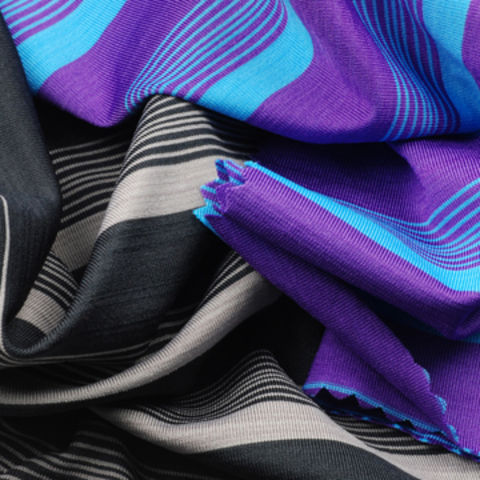 Taiwan Multiple Tone Stripe Jersey Fabric, Made of 92% Poly + 8% Spandex with Wicking