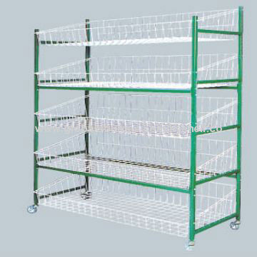 Wire Shelf with Wheels, Chrome or Powder Coated, Measures 720 x 450 x 300mm