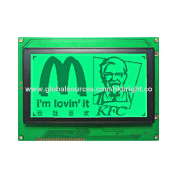 China Graphic LCD Display 240*128A, with Yellow-green, LED Backlight, STN yellow-green