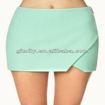 100 polyester pencil skirt light green color