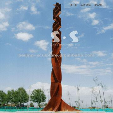 Cor Ten Steel Memorial Column, Rust Steel Column | Global Sources