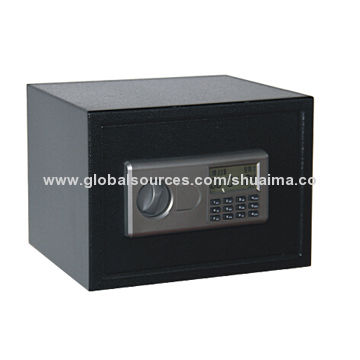China Office Electronic Safes, LED Display with Two Emergency Keys, Powder-coated Interior and Exterior