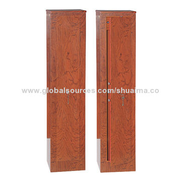 China Wood Grain Gun Safes with Key Lock, Available in Various Designs, Gun Racks, Cleaning Shelf