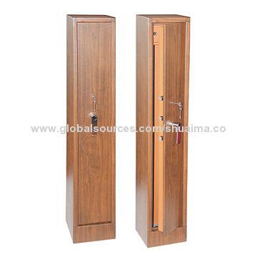 China Wood-grain Gun Safes with Adjustable Foam/Aluminum Rack, Ammo Box/5-way Locking, 1,500 x 350 x 350mm