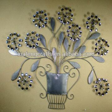 Metal flower ornament art wall decor cheap home decor Metal wall decor cheap