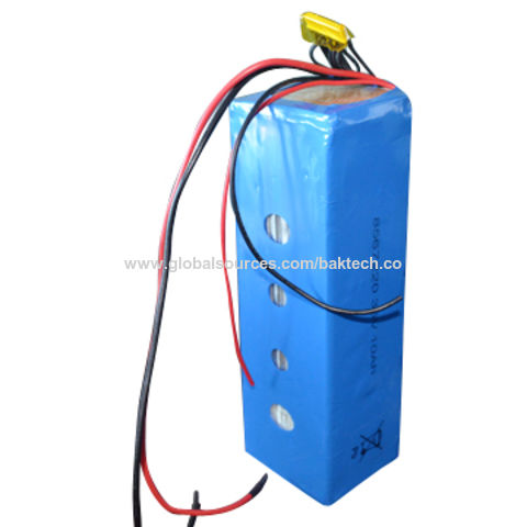 China Lithium ion polymer rechargeable battery pack 10S1P 36V 10Ah with BMS