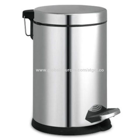 3/6/12L Stainless Steel Garbage Bin with Polished or Satin Surface Finish