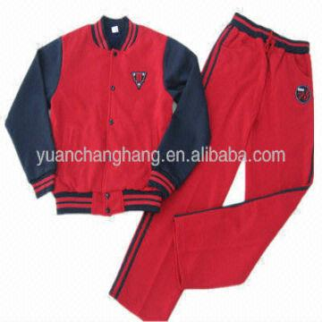 Kids Varsity Jackets And Pants School Style Fleece Clothing Jogging Set Cheap Price Jackets