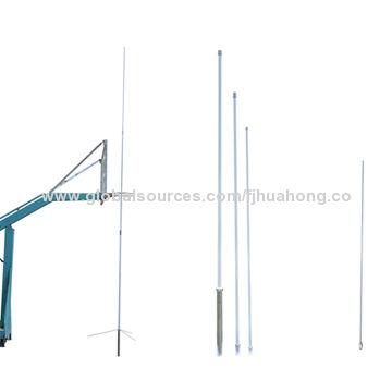 China 5.2m three section dual band diamond base station antenna, 144-145MHz, 430-440MHz 8.3/11.7dBi