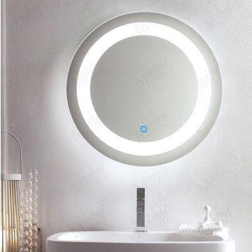 Mgonz led lighting anti-fog bathroom mirror round wall ...