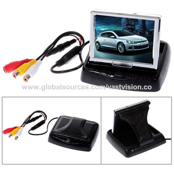 4.3-inch folded car PC monitor with 2 AV input