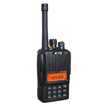 China Handheld Two-way Radio with 4/5W Power, IP66/67 Waterproof, DCS and CTCSS