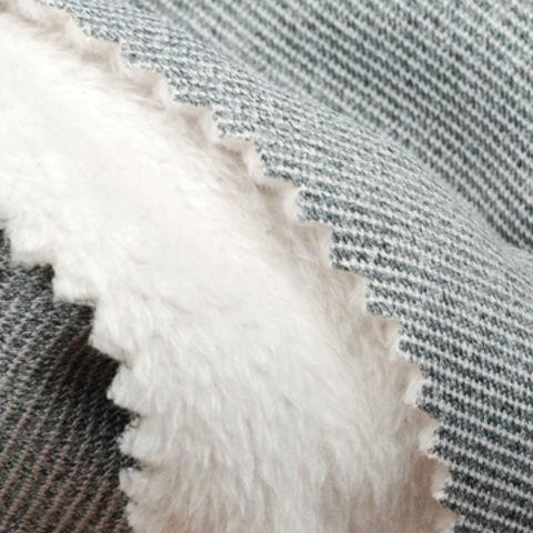 Taiwan 100% Poly Melange Pique Sherpa Fleece Fabric