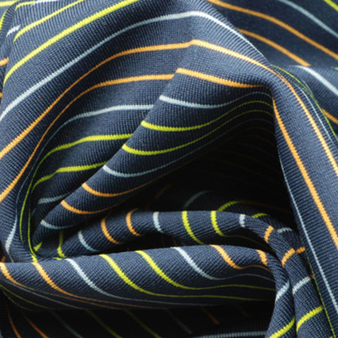 Taiwan Yarn Dyed Stripe Jersey Fabric, Made of 92% Poly + 8% Spandex, with UPF50 and Anti-Bacterial