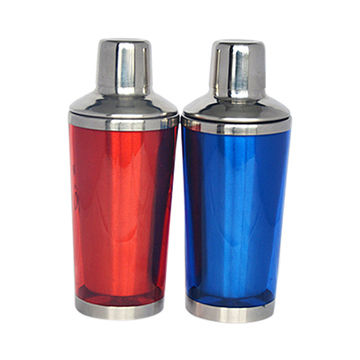 350mL Double-wall stainless steel and plastic cocktail shaker
