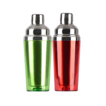 China 450mL Double-walled plastic cocktail shaker