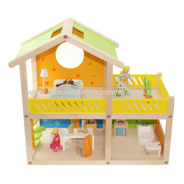New And Por Wooden Toy House For Kids Unit Measures 47 5 24 44cm