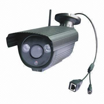 China Wireless IP Camera with 1,280 x 720 at 720 Pixels, Night Vision, Waterproof, H.264 Compression