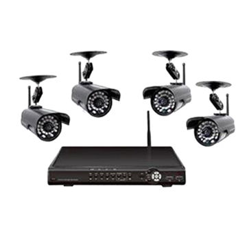 China H264 D1 Digital Wireless Security System with 3-channel Wired Signal and 4-channel Wireless Signal