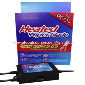 "China Intelligent heated boneless rain wiper blades, (14-28""), 12V, 35W, CPU automatic"