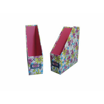 Cardboard magazine holder floral patterned global sources for How to make a magazine holder from cardboard