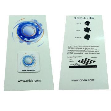 China Hand phone screen cleaner, heat transfer printed, OEM shape