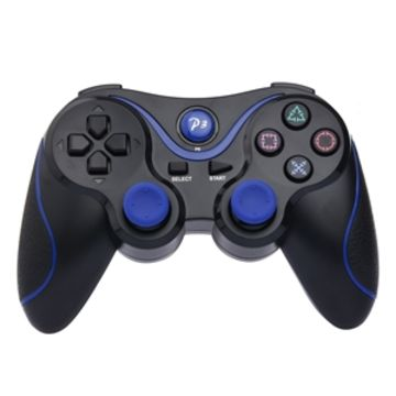 Dualshock Black/Blue Wireless Bluetooth Game Controller For Sony PS3