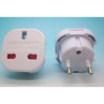 UK to European 2-pin EU France Germany Italy Spain Greece Travel Adaptor/Plug Converter