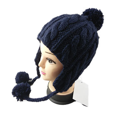 China Ladies fashionable knitted hats