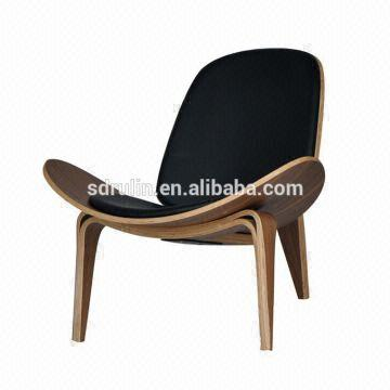 Replica hans wegner ch07 bend wood shell chair plywood lounge chair global sources - Shell chair replica ...