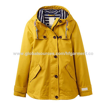 China High-quality Men's PU Raincoat/Waterproof Jacket with Yellow Hood, OEM/ODM Orders Accepted