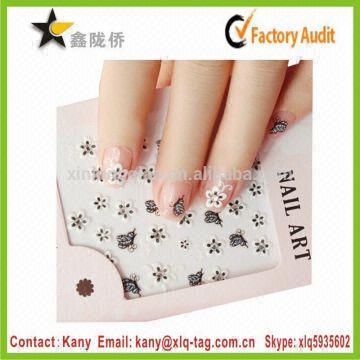 2015 Korea Fashion Nail Polish Sticker Beauty Nail Art Sticker 3d