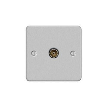Hong Kong SAR Metal Flat Profile (Screwed) Coaxial and Satellite Outlet