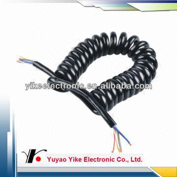 Pvc Pu Spiral Cable Retracted Cable Spiral Cable Telephone