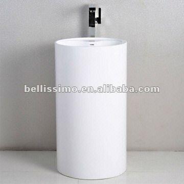 Charmant China Round Pedestal Acrylic Bathroom Sink Basin BS 8505