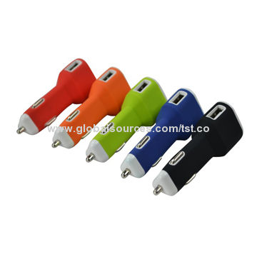 China New Item In-car Dual USB Smart Car Charger