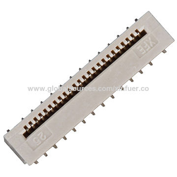 China 0.5mm pitch FPC connector, Non-ZIF type, vertical SMT type,