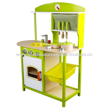 China New Design Top Quality Kid S Wooden Kitchen Sets Toy Unit