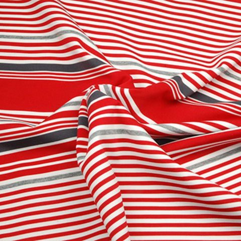 Taiwan Auto Stripe Jersey Fabric, Made of 92% Poly Yarn Dye + 8% Spandex