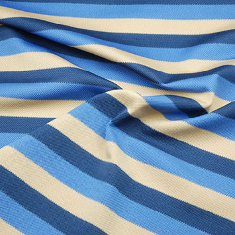 Taiwan Feeder Stripe Pique Fabric, Made of 91% Poly and 9% Spandex