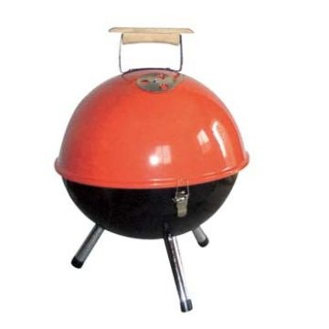 """China Table top grill, portable, 12"""", enamel"""
