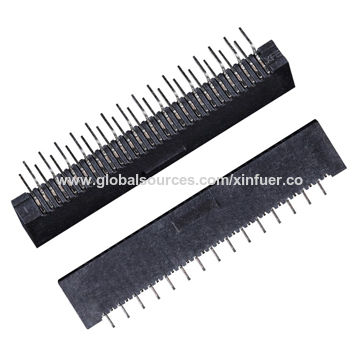 China 1.0mm LVDS connector, DIP right angle type, Non-ZIF, side entry