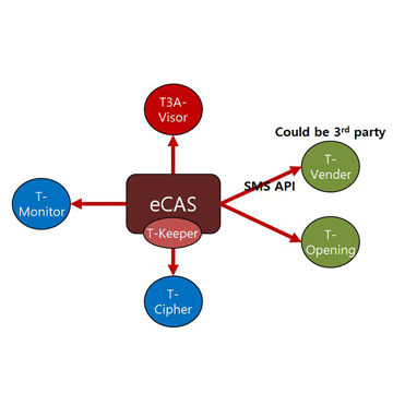 CAS(Conditional Access System) Solution for digital broadcasting business