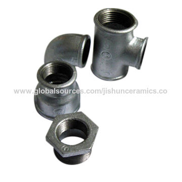 Galvanized & black malleable iron pipe fittings, 3/8