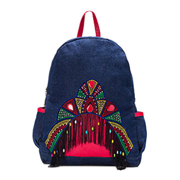 China Ethnic Fashion Cheap Canvas Backpacks for Girls