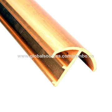 China Brass Extrusion Profile, Copper Window/Door Frames, Decorative/Trim Strip