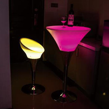 China LED Cordless and Rechargeable Mood Light, RGB Bar Chair and Table with Remote, 16 Colors, CE Marked